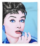 Audrey Hepburn Fleece Blanket