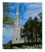Augustinian Cemetery And Church Fleece Blanket