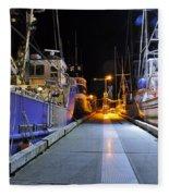 Auke Bay By Night Fleece Blanket