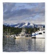Auke Bay Harbor Fleece Blanket