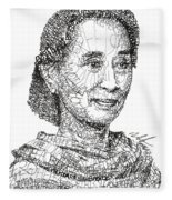 Aung San Suu Kyi Fleece Blanket