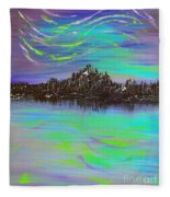 Aurora Borealis Fleece Blanket