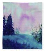 Aurora Borealis I Fleece Blanket