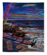 Aurora Borealis Over Florida Fleece Blanket