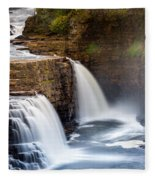 Ausable Chasm Waterfall Fleece Blanket