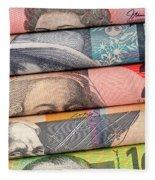Aussie Dollars 01 Fleece Blanket