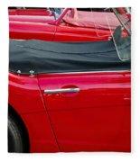 Austin Healey Red Fleece Blanket