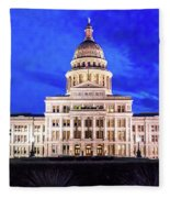 Austin State Capitol Building, Texas - Fleece Blanket