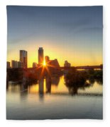 Austin Sunrise Fleece Blanket