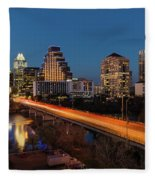 Austin, Texas Cityscape Evening Skyline Fleece Blanket