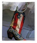 Austin Texas - Red White Blue Sequin Fleece Blanket