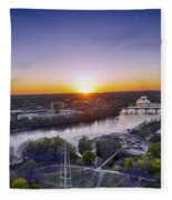 Austin Texas Sunset Hour Fleece Blanket