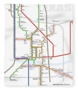 Austin Texas Transit System Fleece Blanket