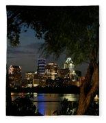 Austin Wooded Skyline Fleece Blanket