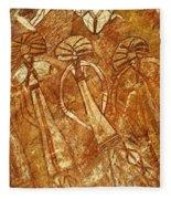 Australia Ancient Aboriginal Art 3 Fleece Blanket
