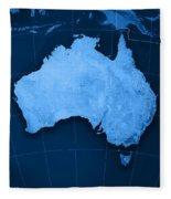 Australia Topographic Map Fleece Blanket