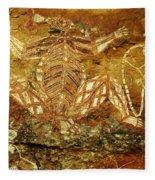 Australia Ancient Aboriginal Art 1 Fleece Blanket