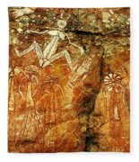 Australia Ancient Aboriginal Art 2 Fleece Blanket