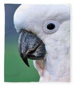 Australian Birds - Cockatoo Up Close Fleece Blanket