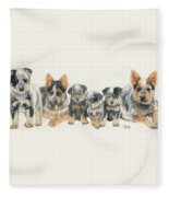 Australian Cattle Dog Puppies Fleece Blanket