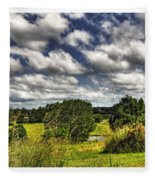 Australian Countryside - Floating Clouds Collage Fleece Blanket