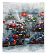 Australian Grand Prix F1 2012 Fleece Blanket