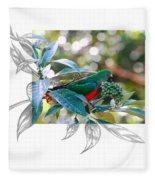 Australian King Parrot Fleece Blanket