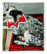 Australian Shepherd Christmas Dog Fleece Blanket