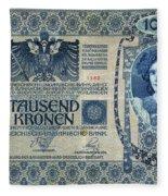 Austria Banknote, 1902 Fleece Blanket