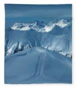Austria Mountain Ischgl Fleece Blanket