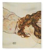 Austria Vienna Female Nude Lying On Her Stomach Fleece Blanket