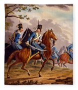 Austrian Hussars In Pursuit Fleece Blanket