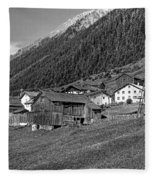 Austrian Village Monochrome Fleece Blanket