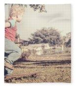 Authentic Faded Brown Vintage Skater Child Fleece Blanket