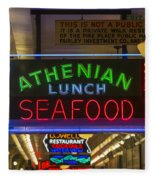 Authentic Lunch Seafood Fleece Blanket