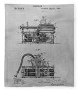 Authentic Thomas Edison Phonograph Patent Fleece Blanket