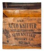 Auto Knitter Box Fleece Blanket