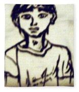 Autographed Drawing Fleece Blanket