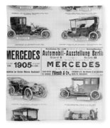 Automobile Ad, 1905 Fleece Blanket