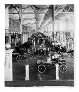 Automobile Display, 1904 Fleece Blanket