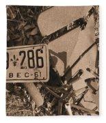 Automobile Graveyard Fleece Blanket