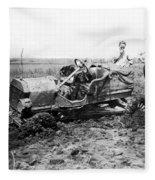 Automobile Race, 1909 Fleece Blanket