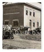 Automobiles, 1906 Fleece Blanket