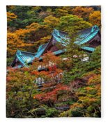 Autum In Japan Fleece Blanket
