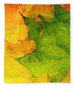 Autum Leaves Fleece Blanket