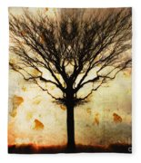 Autum Wind Fleece Blanket