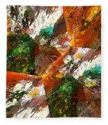 Autumn Abstract Fleece Blanket