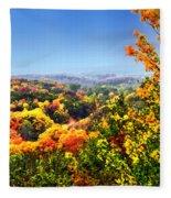 Autumn Across The Hills Fleece Blanket