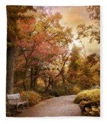 Autumn Aesthetic Fleece Blanket