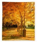 Autumn Alley Fleece Blanket